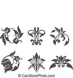 Patrones florales antiguos