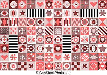 patrones, geométrico, plano de fondo, resumen
