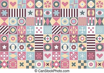 patrones, geométrico, seamless, plano de fondo, resumen