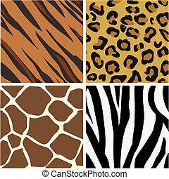 patrones, impresión, seamless, embaldosado, animal