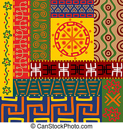 patrones, ornamentos, étnico