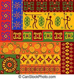 patrones, resumen, ornamentos, étnico