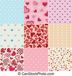 Patrones sin costura el día de San Valentín