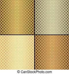 Patrones sin marcas metálicas (vector)