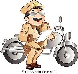 Patrulla de carreteras, ilustración