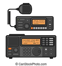 patrullero, set., transceptor, vector, radio