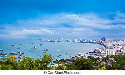 pattaya, golfo, tailandia