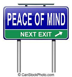 Paz mental.