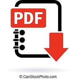 Pdf descargar icono
