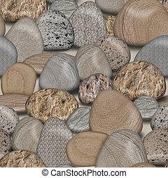 Pebble rocas de fondo de azulejos