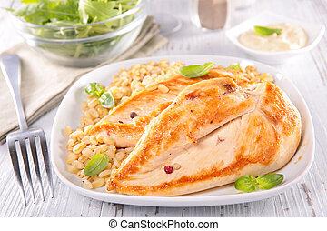 Pechuga de pollo frito