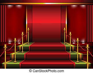 Pedestal rojo