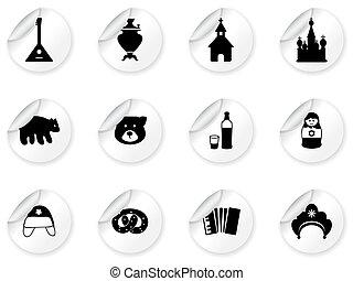 Pegajos con iconos rusos
