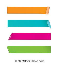 Pegamentos coloridos (vector)