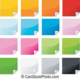 Pegatina colorida, postit set