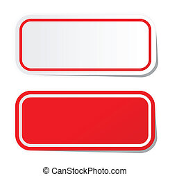 Pegatina roja en blanco