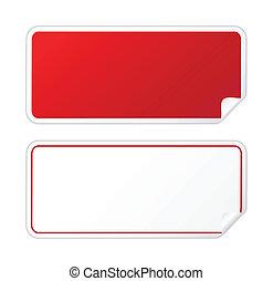 Pegatina roja negra