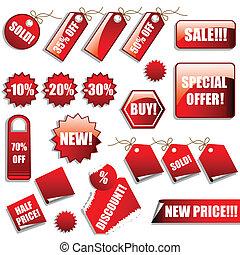 pegatinas, ventas, etiquetas