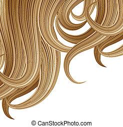 peinado, diseño, plantilla, haircare