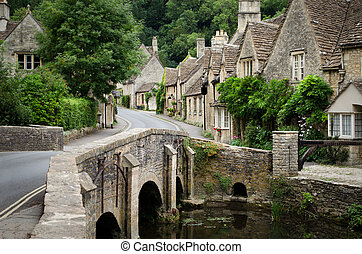 Peine del castillo, cotswolds aldea