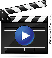 película, blanco, tablilla, abierto, plano de fondo