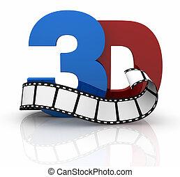 película, concepto, tecnología, 3d