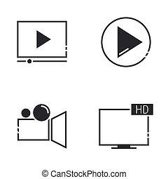 película, iconos