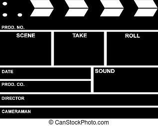 película, panel de palmada