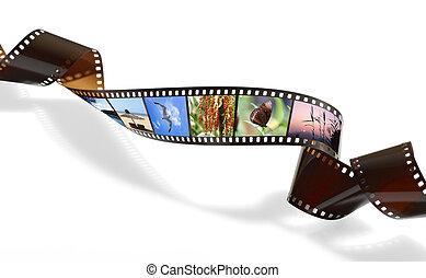 Película retorcida para fotos o videograbación