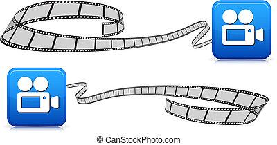 Películas en blanco con imagen de cámara