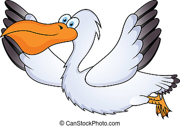 Pelicano en vuelo