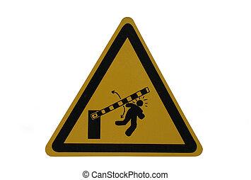 peligro, barrera, señal