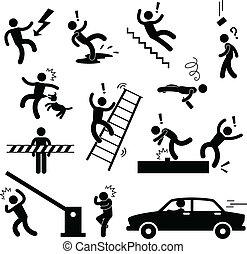 peligro, precaución, accidente, seguridad, señal