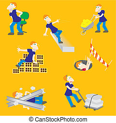 Peligrosos, obrero de accidentes de construcción