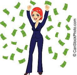 Pelirroja exitosa mujer de negocios