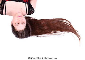 pelo, belleza natural, cara