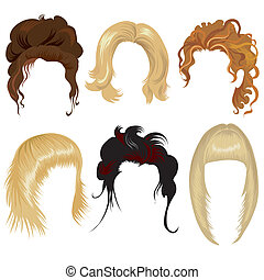 pelo, mujer, estilo