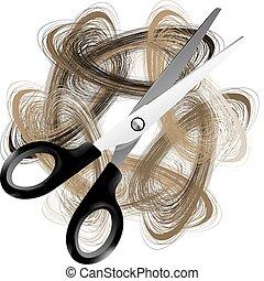 pelo, scissor