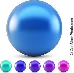 pelota azul, aislado, ilustración, colores, vector, brillante, plano de fondo, blanco, frío, samples.