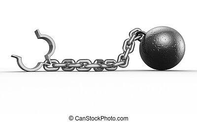 pelota, cadena