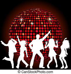 pelota club, bailando, gente
