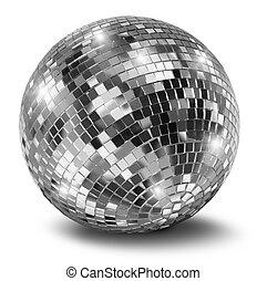 pelota club, plata, espejo