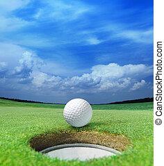 pelota de golf, labio