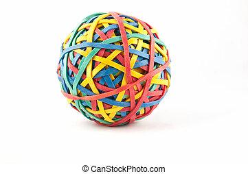 pelota de goma, banda