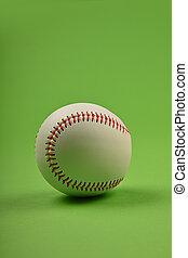 pelota, encima, verde, cierre, beisball, arriba, uno