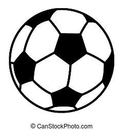 pelota, futbol, contorneado