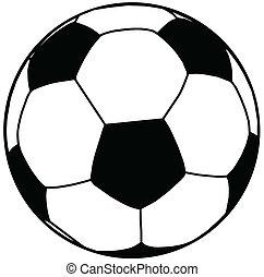 pelota, futbol, silueta, aislamiento