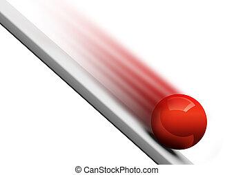 pelota giratoria, hacia abajo, 3d