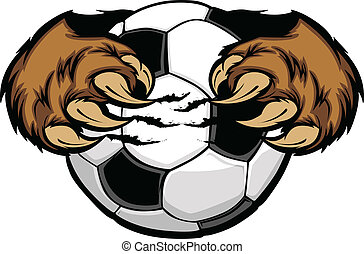 pelota, pasteles con miel, futbol, vector