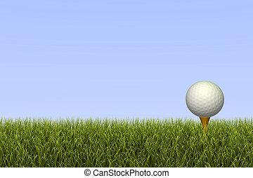 pelota, tee del golf